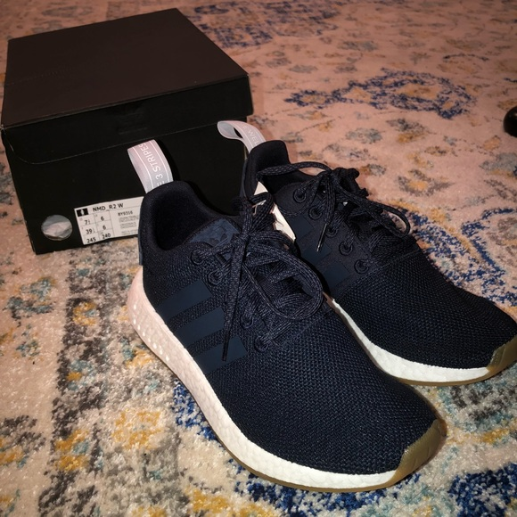 79508b04a adidas Originals NMD R2 Sneakers (Navy Blue)